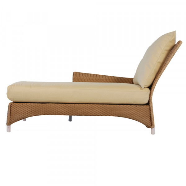 Lloyd Flanders Mandalay Left Arm Facing Wicker Chaise Lounge