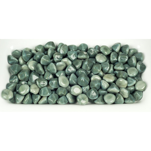 Woodard Replacement Opal Sage Diamond Fire Glass Beads
