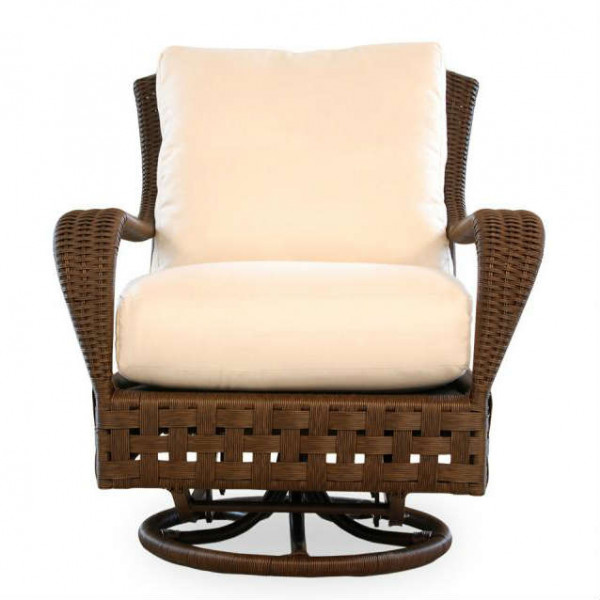 Lloyd Flanders Haven Wicker Swivel Glider