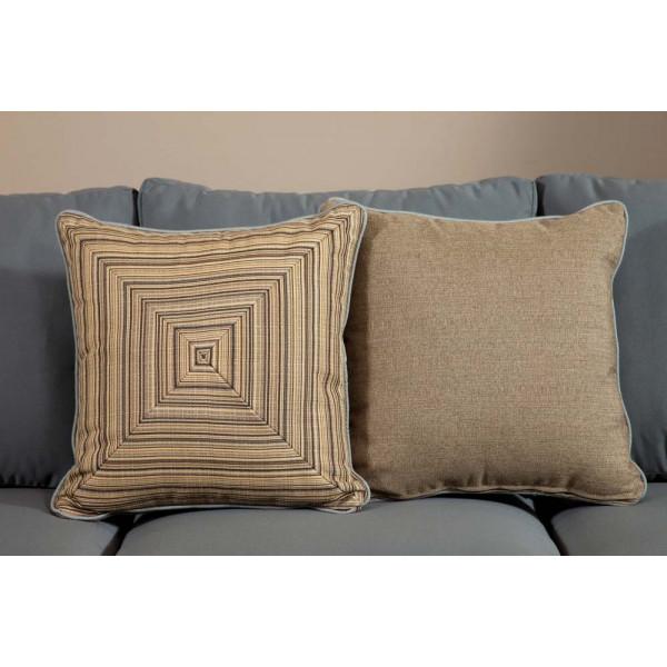 South Sea Rattan All Weather Aura Medium Throw Pillow