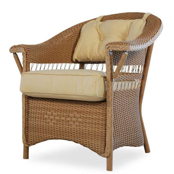 Lloyd Flanders Nantucket Wicker Dining Chair - Replacement Cushion