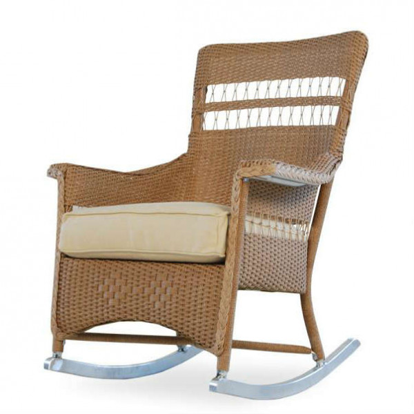 Lloyd Flanders Nantucket Wicker Porch Rocker - Replacement Cushion