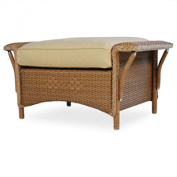 Lloyd Flanders Nantucket Wicker Ottoman - Replacement Cushion