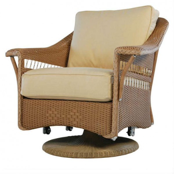 Lloyd Flanders Nantucket Wicker Swivel Glider