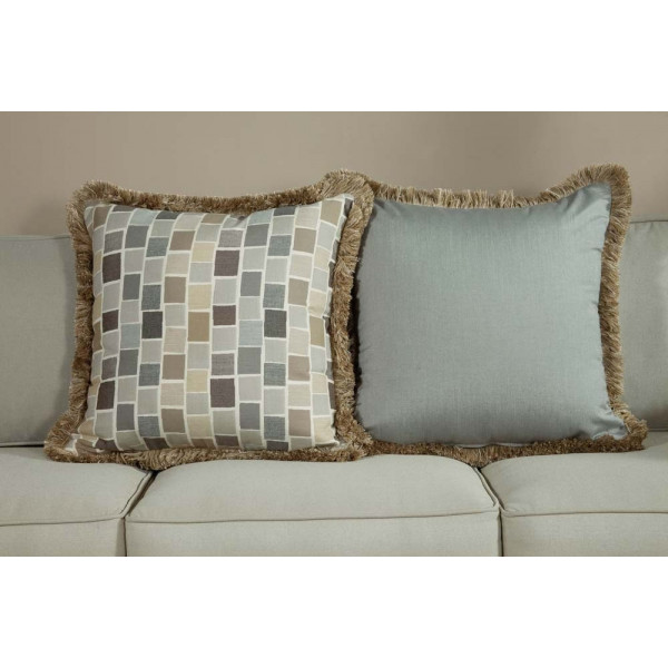 South Sea Rattan All Weather Slate Large Throw Pillow