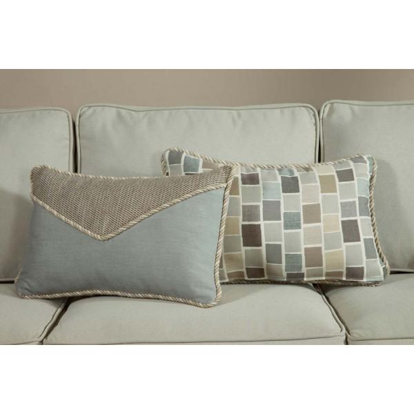 South Sea Rattan All Weather Slate Small Throw Pillow