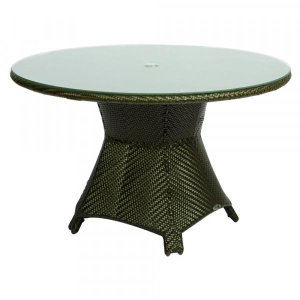 "WhiteCraft by Woodard Trinidad 48"" Wicker Dining Table"