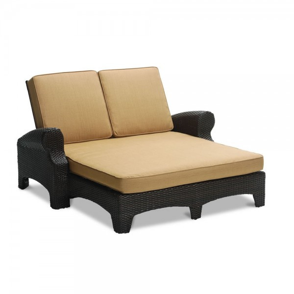 Sunset West Santa Barbara Double Wicker Chaise Lounge - Replacement Cushion