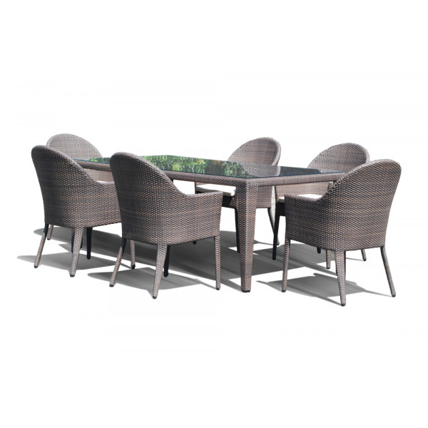Hospitality rattan kenya 7 piece wicker dining set for Outdoor furniture kenya