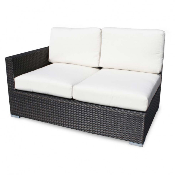 Source Outdoor Lucaya Left Arm Facing Wicker Loveseat
