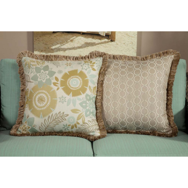 South Sea Rattan All Weather Aries Large Throw Pillow