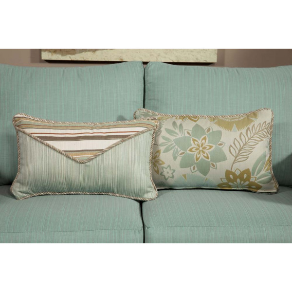 South Sea Rattan All Weather Aries Small Throw Pillow