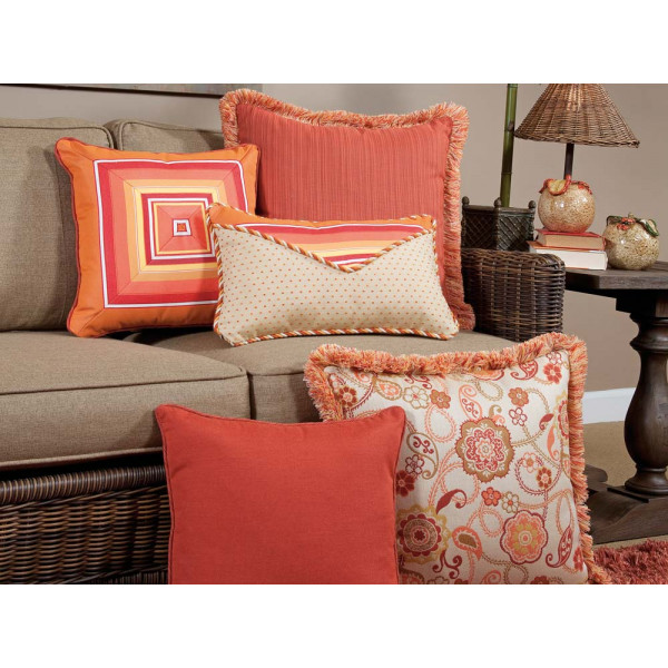 South Sea Rattan All Weather Fiesta 5 Piece Throw Pillow Set