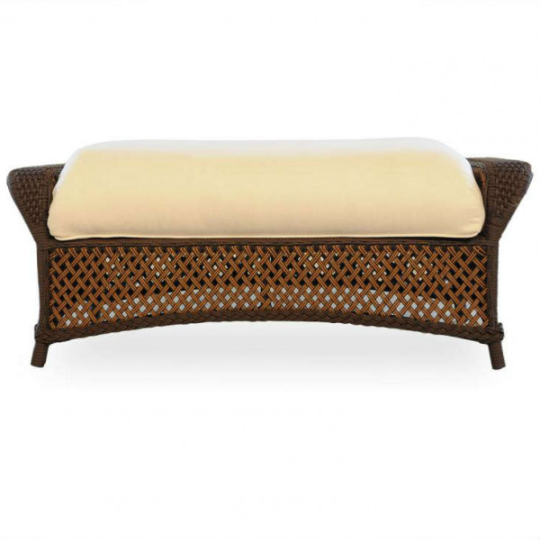 Lloyd Flanders Grand Traverse Large Wicker Ottoman - Replacement Cushion