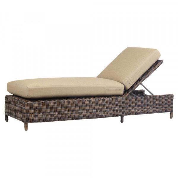 South Sea Rattan Del Ray Wicker Chaise Lounge