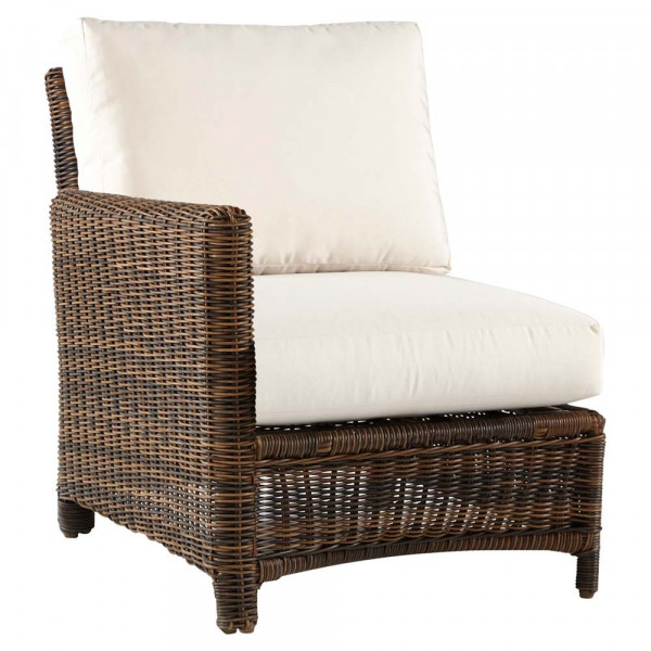 South Sea Rattan Del Ray Left Arm Facing Wicker Lounge Chair
