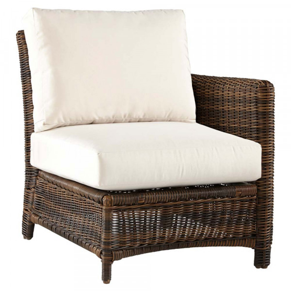South Sea Rattan Del Ray Right Arm Facing Wicker Lounge Chair