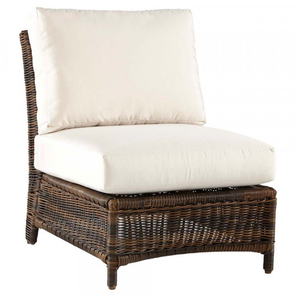South Sea Rattan Del Ray Armless Wicker Lounge Chair