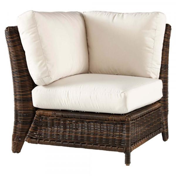 South Sea Rattan Del Ray Wicker Corner Chair