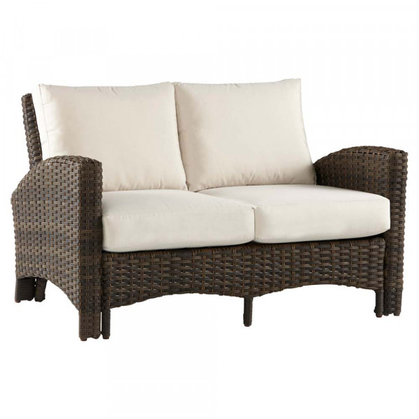 South Sea Rattan Panama Wicker Loveseat