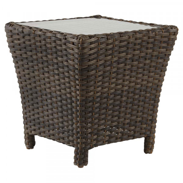 South Sea Rattan Panama Wicker End Table