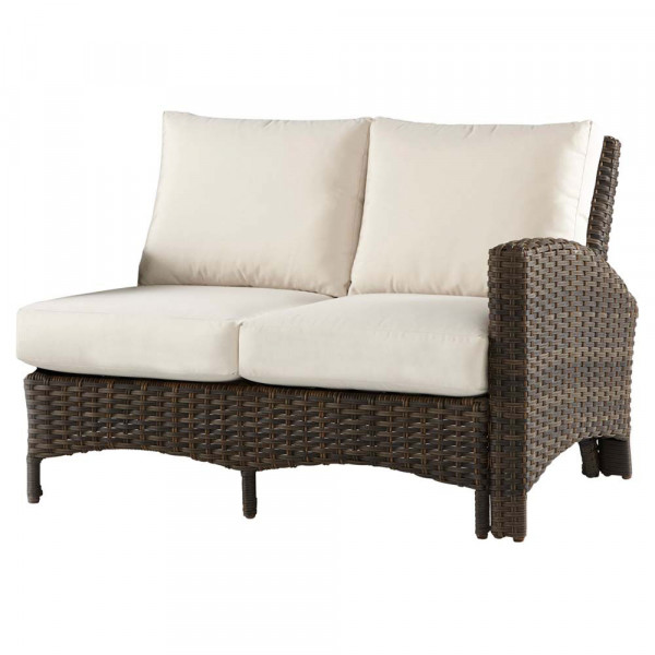 South Sea Rattan Panama Right Arm Facing Wicker Loveseat