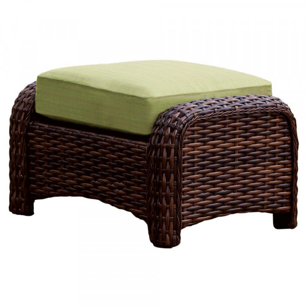 South Sea Rattan Saint Tropez Wicker Ottoman