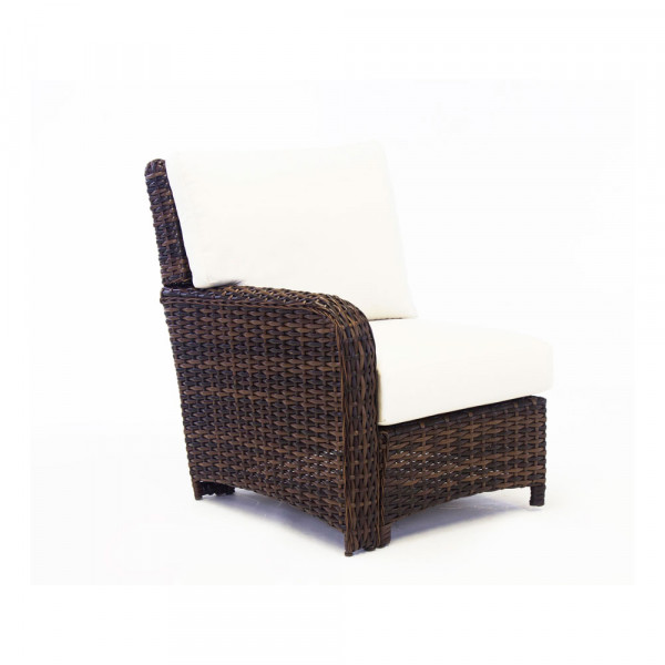 South Sea Rattan Saint Tropez Left Arm Facing Wicker Lounge Chair