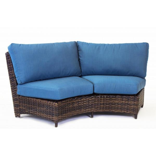 South Sea Rattan Saint Tropez Wicker Curved Sofa