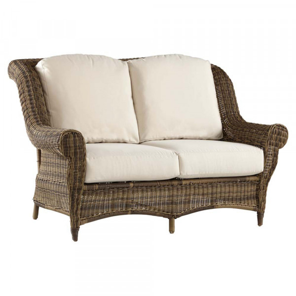 South Sea Rattan Provence Wicker Loveseat