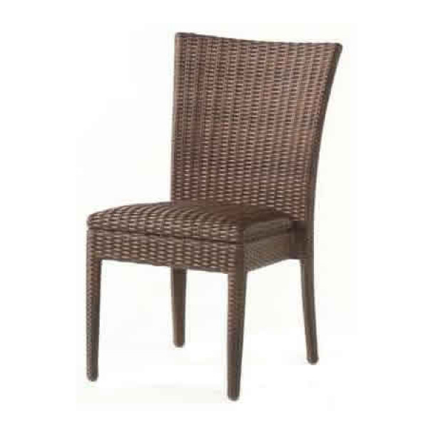 WhiteCraft by Woodard Padded Armless Wicker Dining Chair