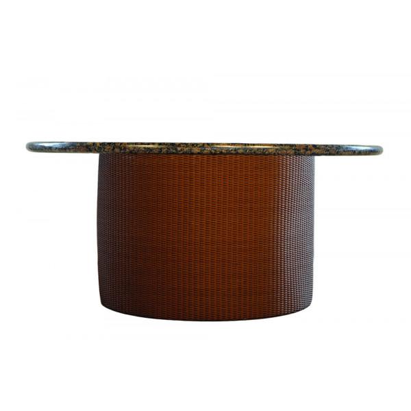 Lloyd Flanders Round Wicker Fire Table