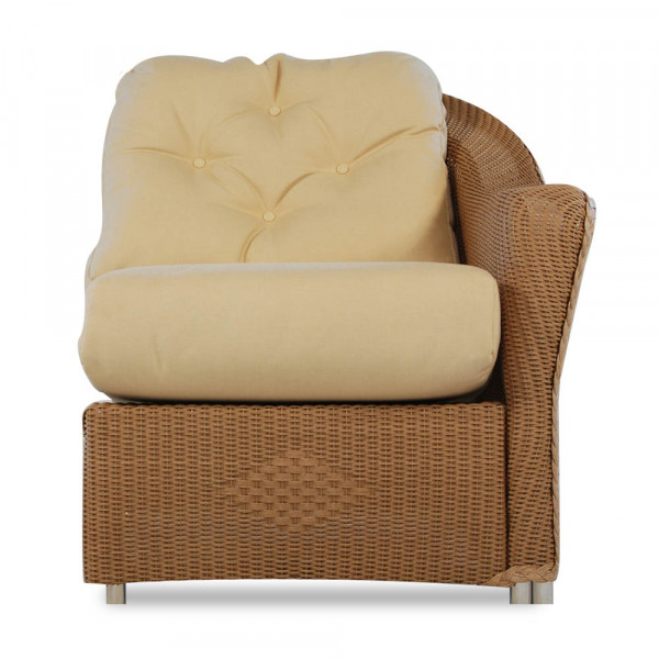 Lloyd Flanders Reflections Right Arm Facing Wicker Lounge Chair