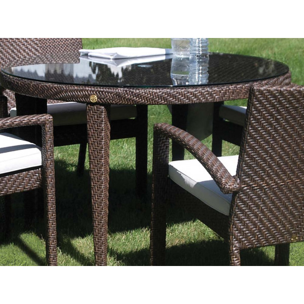 "Hospitality Rattan Soho Wicker 47"" Round Dining Table"