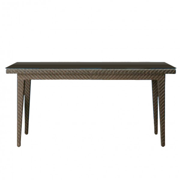 "Hospitality Rattan Soho Wicker 64"" Dining Table"