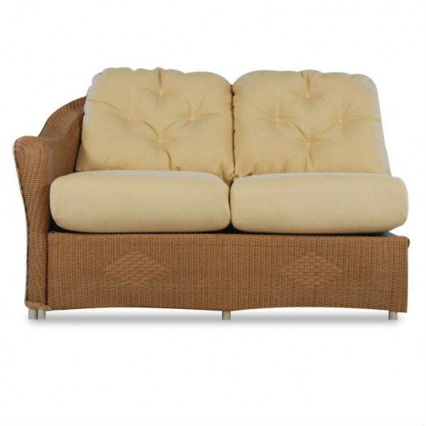 Lloyd Flanders Reflections Left Arm Facing Wicker Loveseat