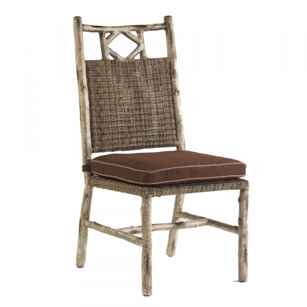 WhiteCraft by Woodard River Run Armless Wicker Dining Chair