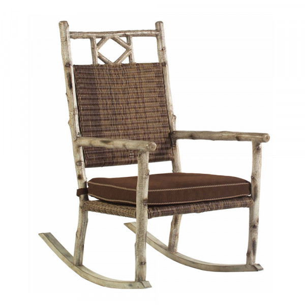 WhiteCraft by Woodard River Run Wicker Rocking Chair