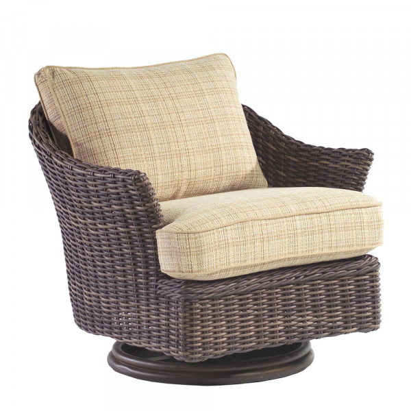 WhiteCraft by Woodard Sonoma Wicker Swivel Chair