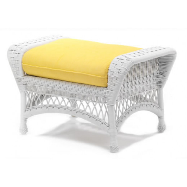 Sommerwind Ottoman with Incline Canary cushion