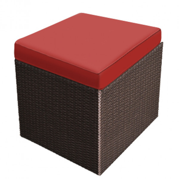 Forever Patio Barbados Wicker Cube Ottoman Replacement Cushion