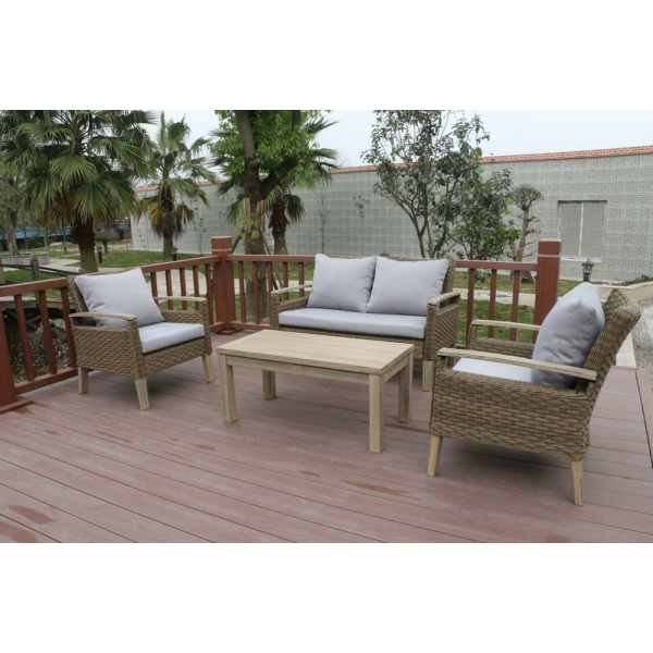Thy - HOM Bari 4 Piece Wicker Conversation Set