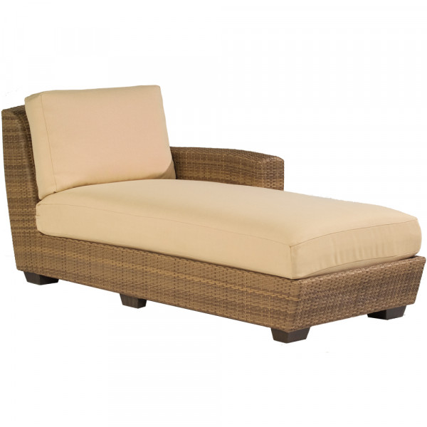 Whitecraft by woodard saddleback wicker chaise lounge for Adams 5 position chaise lounge white