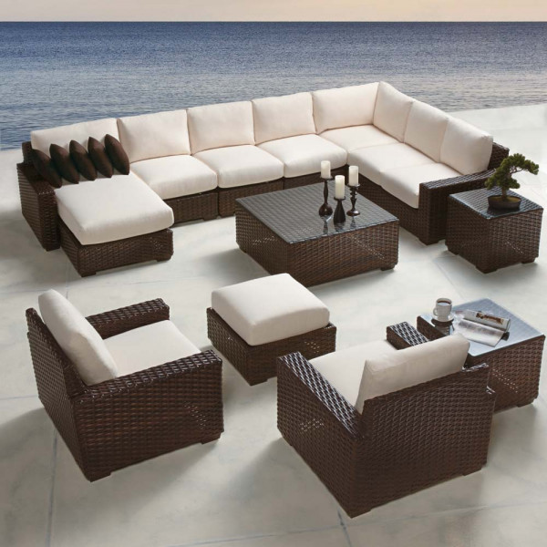 Lloyd Flanders Contempo 12 Piece Wicker Sectional Set