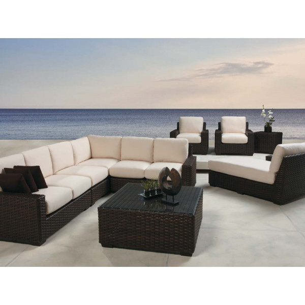 Lloyd Flanders Contempo 9 Piece Wicker Sectional Set