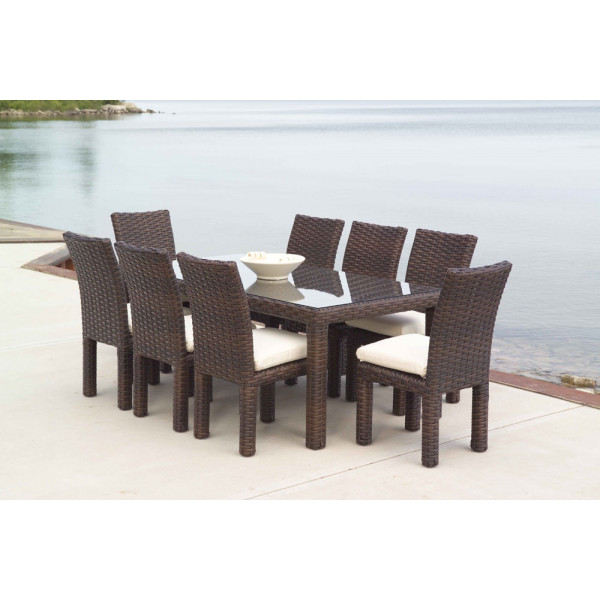 Lloyd Flanders Contempo 9 Piece Wicker Dining Set