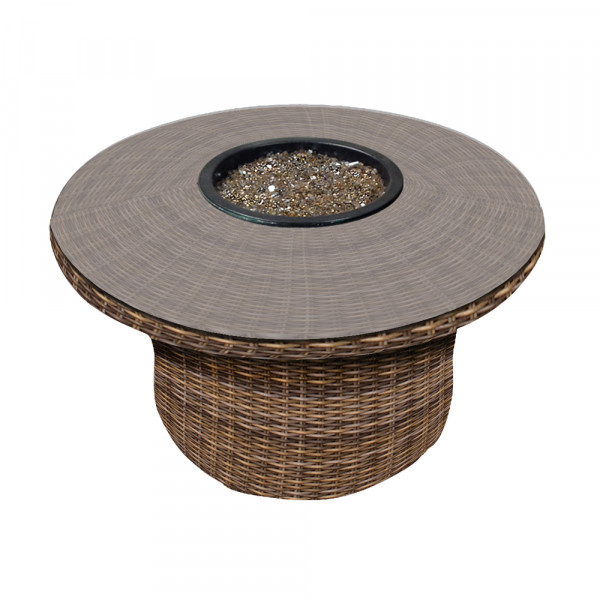 Forever Patio Cypress Wicker Fire Table