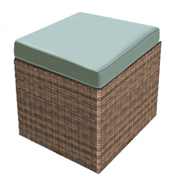 Forever Patio Cypress Wicker Cube Ottoman