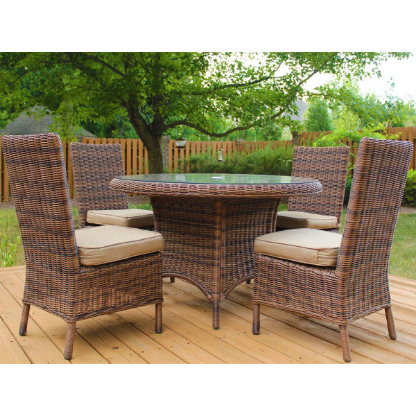 South Sea Rattan Del Ray 5 Piece Wicker Dining Set