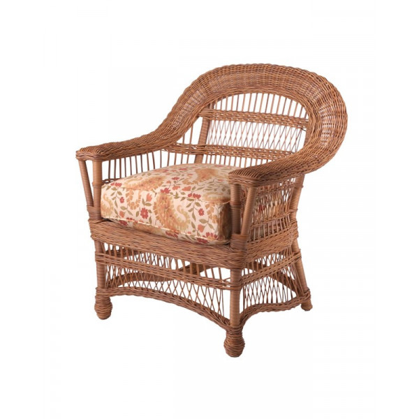 WhiteCraft by Woodard Cottage Wicker Dining Chair - Replacement Cushion